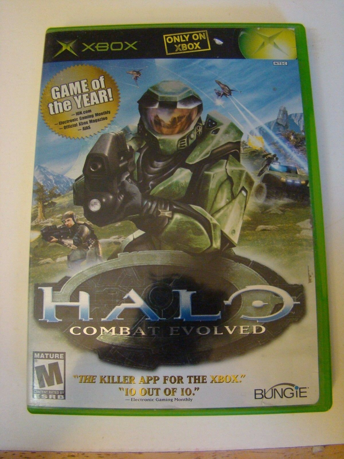 Halo Combat Evolved Microsoft Xbox Video Game EXCELLENT Complete FAST SHIPPING