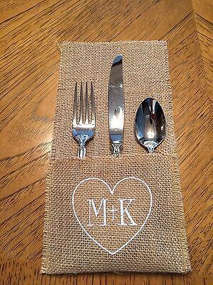Wedding Reception Burlap Utensil Holders for Table Decor - Set of 2](Table Decorations For Wedding Receptions)