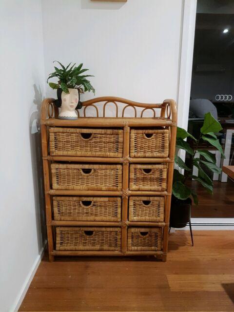 Cane Drawers Buffet/ Dresser