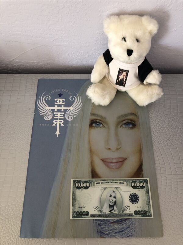 Cher 2003 Farewell Tour Program, Cher Dollars and Teddybear