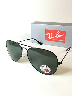 Ray-Ban Aviator Sunglasses RB 3026 Polarized Black Frame Large 62mm (Rayban Aviator 3026)