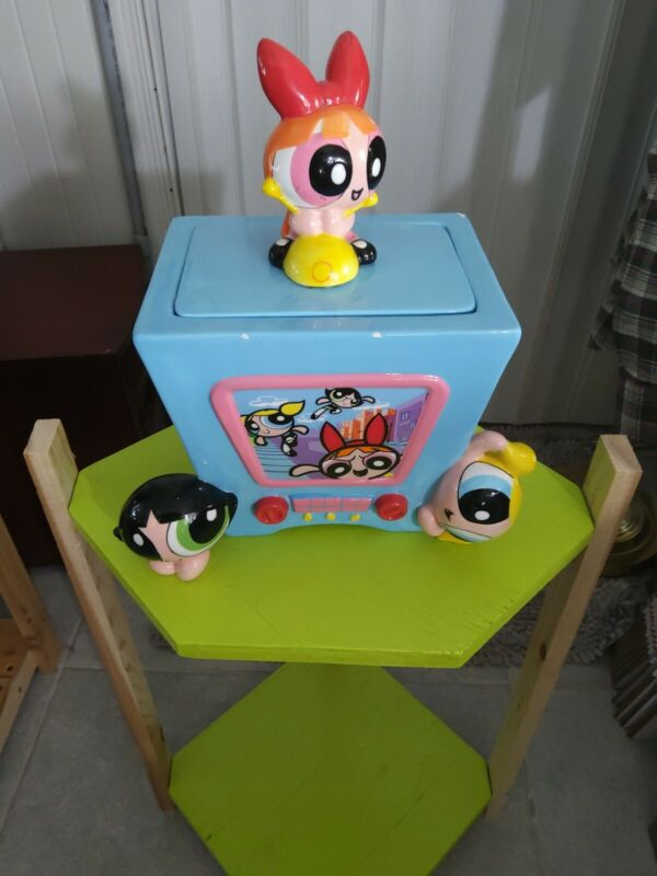 """POWER PUFF GIRLS"" - Rare TV Cookie Jar/EXCELLENT Condition"