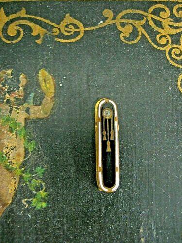 antique Art Deco enamel lingerie clip pin Tie Bar clip
