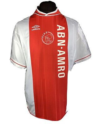 AJAX AMSTERDAM #18 FRANK LAMPARD 1999/00 HOME SOCCER JERSEY UMBRO SIZE XL ADULT image