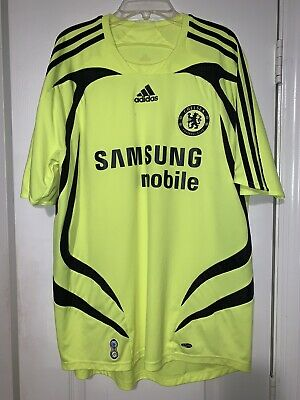 ADIDAS CHELSEA THIRD SOCCER JERSEY 2007 2008 YELLOW BLACK RARE Adidas Yellow Soccer Jersey