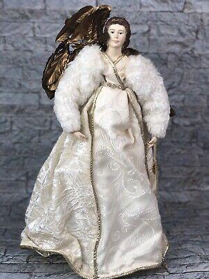 "Napco Angel Wings Jesus Christmas Tree Topper Gold Cream 20"" ()"