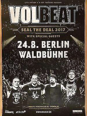 VOLBEAT  2017  BERLIN - orig.Concert Poster -- Konzert Plakat  A1 NEU