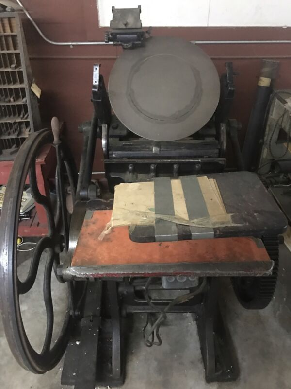 Chandler & Price platen press 1900