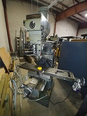Supermax Ycm-16vs Price Reduced Vertical Knee Mill R-8 3hp 949 Table