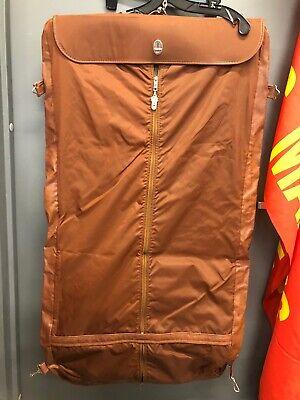 VINTAGE Brown SAMSONITE Hanging GARMENT Suit Leather Bag Luggage Over Shoulder