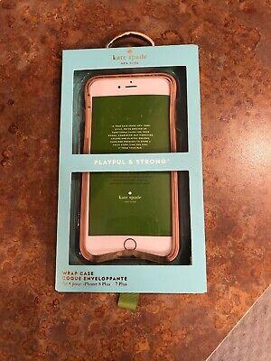 Kate Spade New York iPhone 8 Plus, 7 Plus, Wrap Case Saffiano Rose Gold