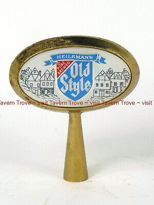 1960s WISCONSIN Heileman OLD STYLE BEER metal/plastic Tap Handle Tavern Trove