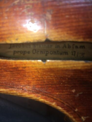 4/4 Violin Labeled Jacobus Stainer In Abfam Prope Oenipontum 1763 - $256.00