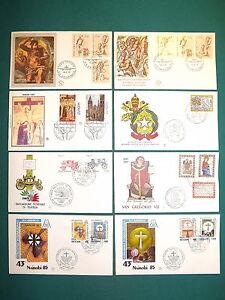 Vaticano-FDC-Filagrano-Lotto-di-8-buste-primo-giorno-1976-85