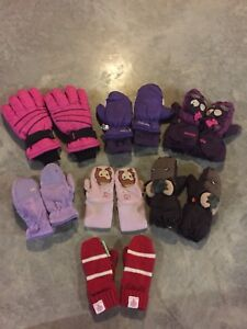 Boys and Girls Gloves and Mittens (various sizes and brands)