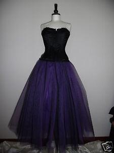 tutu skirt long 20 22  black purple tulle prom goth wedding plus size