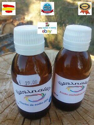 clorito de sodio al 28% envase cristal topacio 140 ml alta calidad...