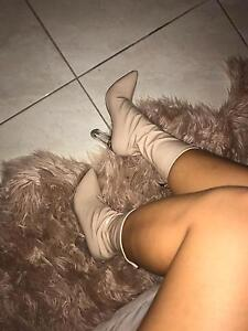 Brand New Nude Patent Leather Heel Boots Brisbane City Brisbane North West Preview