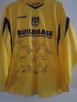 Oxford United 2006-2007 BNWOT Squad Signed Home Football Shirt /41996 image