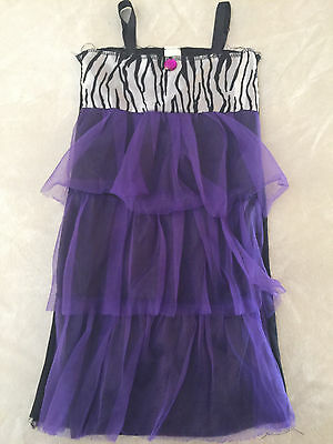girls FLAPPER DRESS 1920'S halloween costume DRESS-UP dance ZEBRA size 3/4/5/6