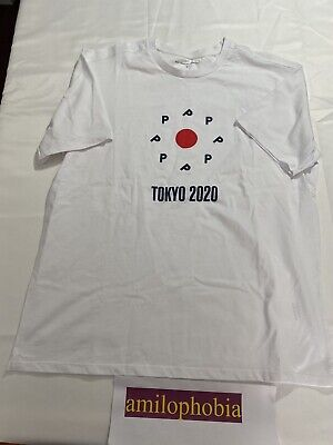 New Mens Large White Pop Trading Company Tokyo 2020 T Shirt