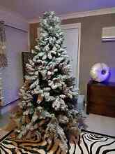7ft Flocked Glitter Christmas tree Bligh Park Hawkesbury Area Preview