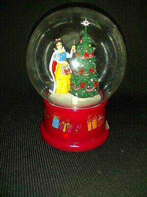 Gemmy Disney Snow White Waterless Christmas Snow Globe Musical Christmas Tree