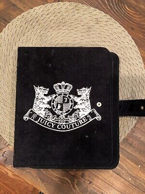 JUICY COUTURE SCOTTIE EMBROIDERY for IPAD 1/2/3 VELOUR CASE Black ()