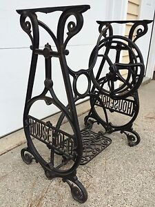 Vintage ( HOUSEHOLD-BRAND ) Base, Cast-Iron, Treadle Works Very Well