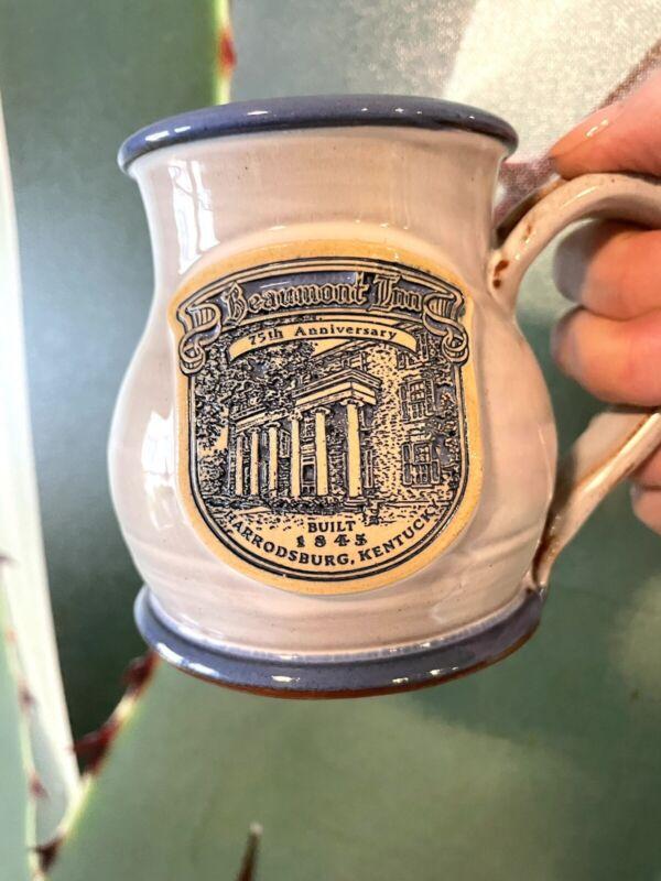 Beaumont Inn Harrodsburg Kentucky 75th Anniversary Glazed Ceramic Mug