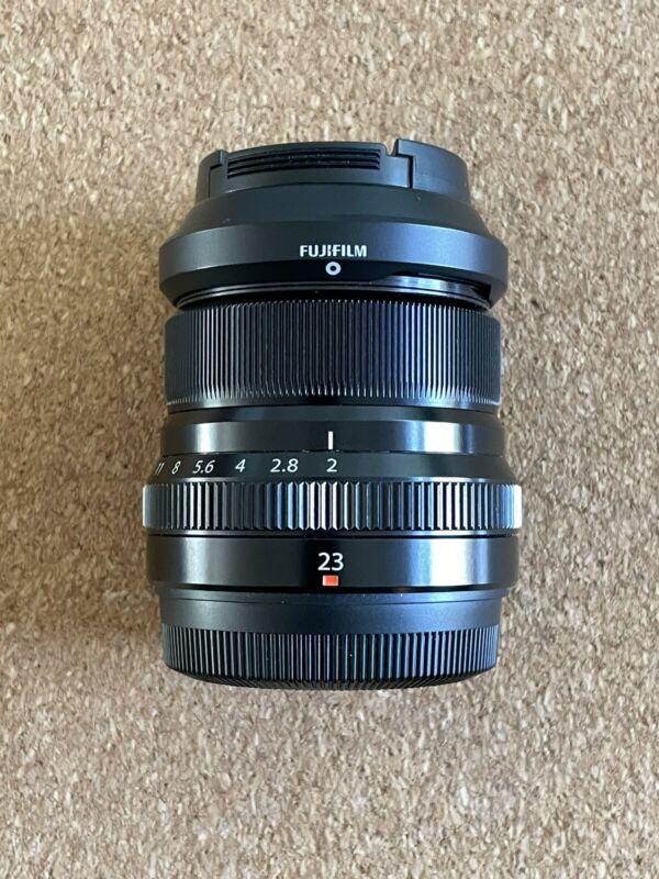 Black Fujifilm Fujinon XF 23mm f/2 R WR Lens for Fuji X