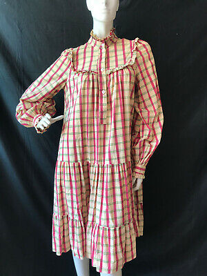 Vintage 1970s-80s Laura Ashley Smock peasent Dress size 8-10ish