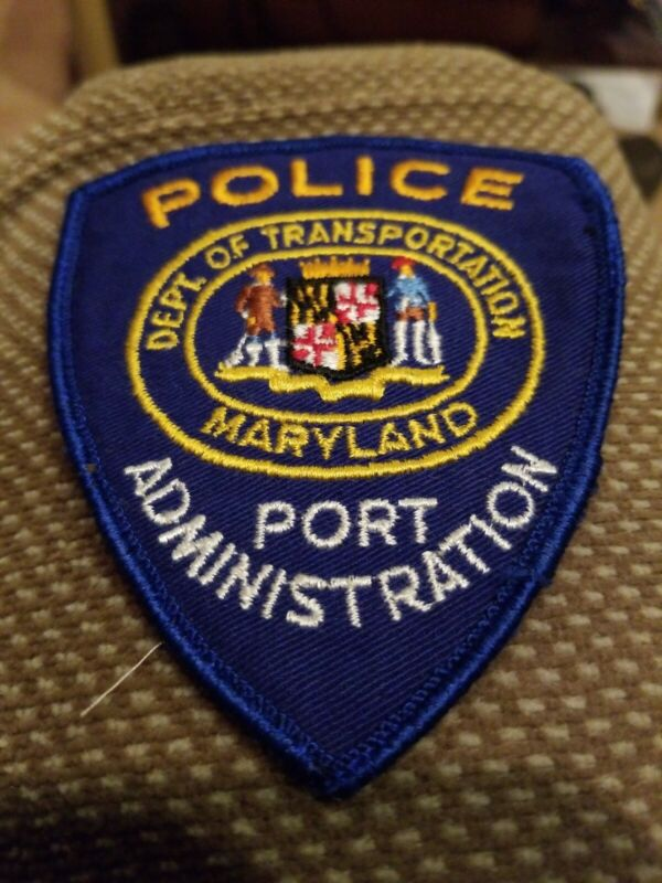 Off Uniform Maryland Port Administration Police Patch Defunct Agency