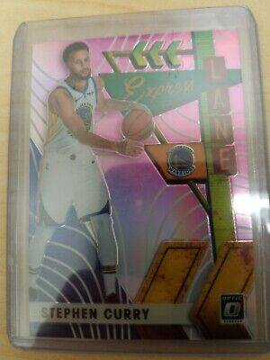 2019-20 Optic Stephen Curry #16 Express Lane Pink /25 *Warriors