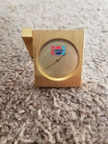Small Gold Pepsi Desk Clock