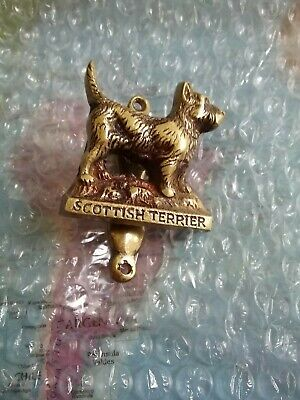 Scotch Terriers Brass Dog Door Knocker Vintage Scottish Terrier