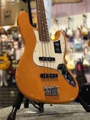 Fender Player Jazz Bass, Capri Orange, Pau Ferro, 2019 W/ Free Shipping
