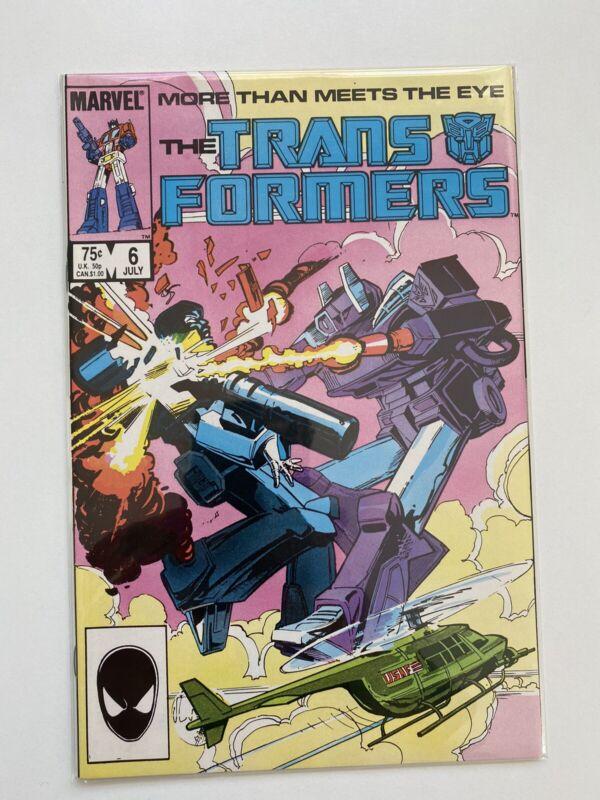 The Transformers Comic Book #6 Marvel Comics 1985