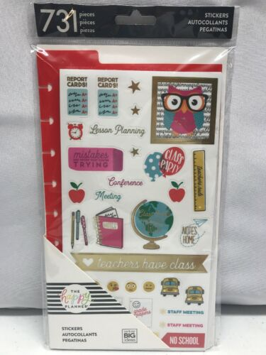 The Happy Planner Teacher Scrapbook Planner Stickers, Me and