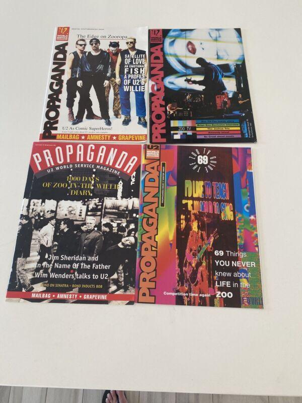U2 Rare Vintage Propaganda #16,17,18,19 1992,93,94,  Magazine Lot Fan Club Mag