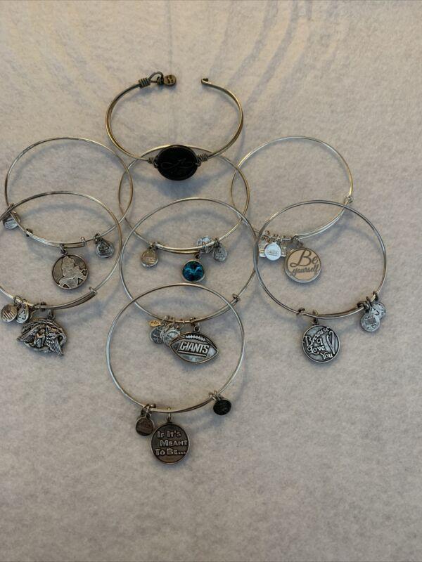 8 Alex & Ani Silver Bracelets, Lia Sophia, Mixit  NWTS NWOT EUC 16  HUGE LOT