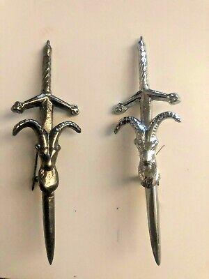Scottish Stag Head Pin/Scottish Heritage Kilt Pin Chrome Finish Kilt Pins