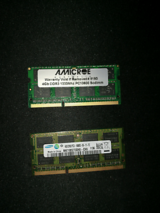 2x4gb ddr3 laptop memory Mount Druitt Blacktown Area Preview