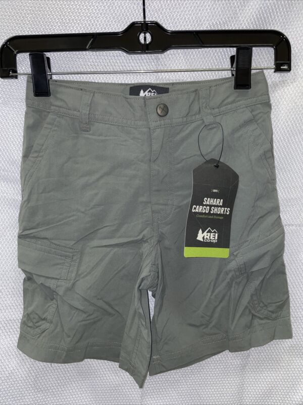 REI Sahara Shorts - Sage Grey - Boys XS (6-7)