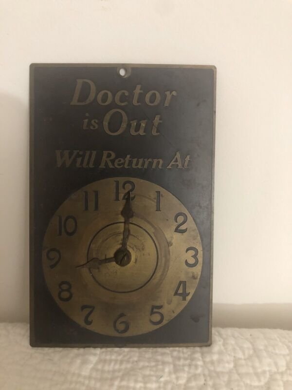 Antique Vintage Brass Doctor