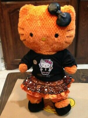 Bear Halloween Outfit ( Build A Bear Orange Halloween Hello Kitty Wearing A Halloween Outfit and)