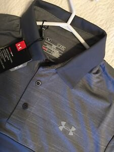 Men's Under armour golf shirt stretch size small new with tags