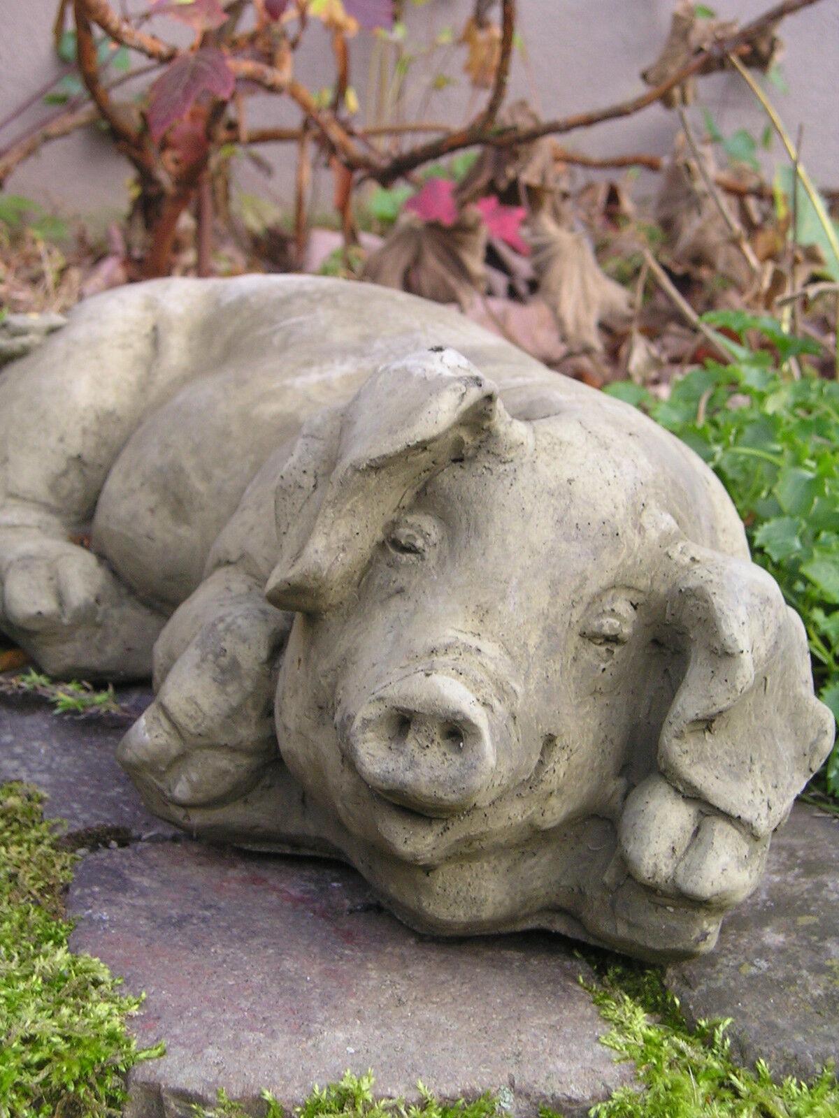 gartenfigur schwein steinfigur stein ferkel liegend steinguss frostfest eur 69 90 picclick de. Black Bedroom Furniture Sets. Home Design Ideas