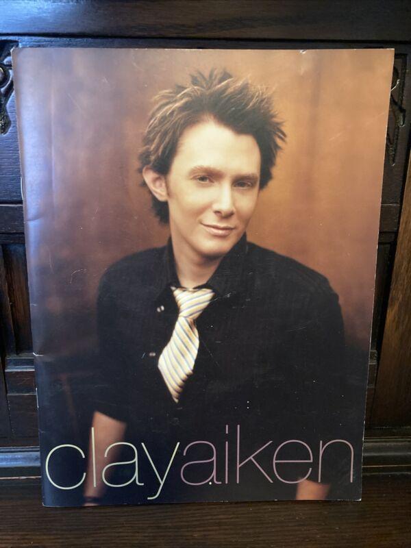 Clay Aiken Concert Tour Program 2004 American Idol Measure Of A Man Souvenir Gd