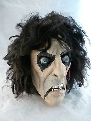ALICE COOPER Signed Autographed Full Sized Halloween Mask BAS - Alice Cooper Halloween Mask